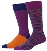 Polo Ralph Lauren Two-Pack Multi Striped Dress Socks