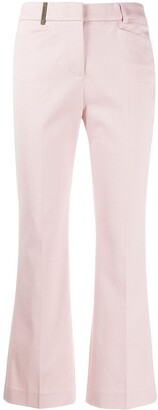 Peserico Kick Flared Cropped Trousers