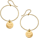 Heather Hawkins Hammered Hoop Coin Earrings