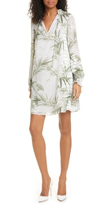 Ted Baker Glimmah Highland Floral Long Sleeve Shift Dress