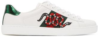 Gucci White Snake New Ace Sneakers