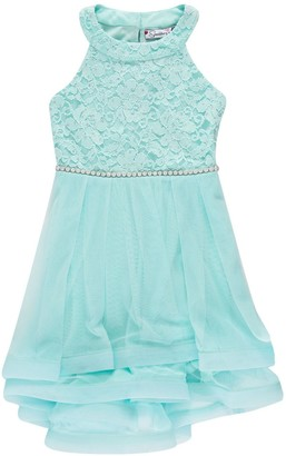 Speechless Girls 7-16 Lace & Tulle Halter Fit & Flare Dress