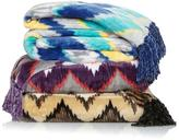 Concierge Collection Elements Multicolor Chevron Throw with Fringe