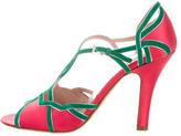 Prada Satin Cutout Sandals