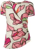 Emporio Armani floral print T-shirt - women - Silk - 40