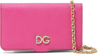 Dolce & Gabbana Crystal-embellished Textured-leather Iphone X Case