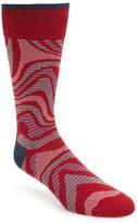 Bugatchi Men's 'Alternating Wave' Socks