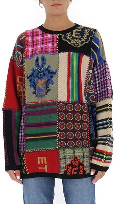 Etro Patchwork Knit Sweater