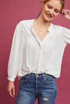 Cloth & Stone Pleated V-Neck Blouse