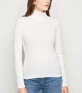 New Look Ribbed Long Sleeve Roll Neck Top