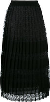 Antonio Marras lace pleated skirt - women - Nylon/Polyester/Viscose - XL