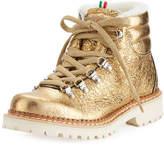 La Montelliana Margherita Metallic Fur-Lined Boot