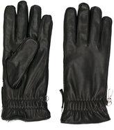 DSQUARED2 zipped gloves - men - Lamb Skin/Rabbit Fur - 8.5