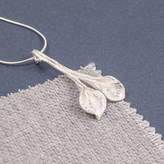 CALLA SUMMER AND SILVER Silver Two Lily Pendant