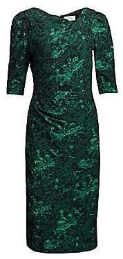 Teri Jon by Rickie Freeman Women's Metallic Jacquard Midi Dress
