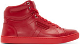 Dolce & Gabbana Red London High-Top Sneakers