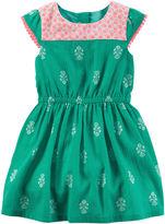 Carter's Cap-Sleeve Geo-Print Dress - Toddler Girls 2t-5t