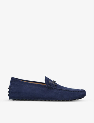 Tod's Double T suede driving shoes