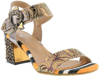 Spring Step L'Artiste by Leather Heeled Sandals - Solia