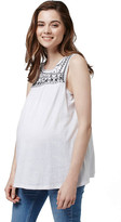 Topshop Sleeveless Embroidered Smocked Top (Maternity)