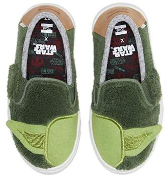 Star Wars Toms Kids TOMS Kids Luca (Toddler/Little Kid) (Olive Yoda Terry Cloth) Kid's Shoes