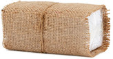 Neiman Marcus Burlap-Wrapped Handkerchiefs, Set of 10
