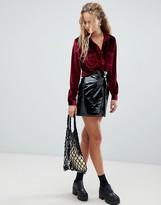 Dr. Denim vinyl mini skirt