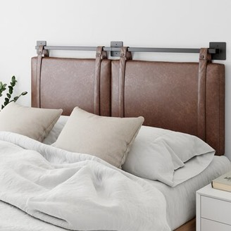17 Stories Kroeker Upholstered Panel Headboard Size: Twin, Color: Brown