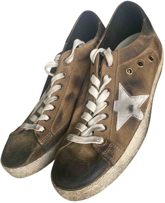 Golden Goose Superstar Brown Leather Trainers