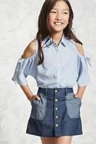 Forever 21 Girls Denim Skirt (Kids)