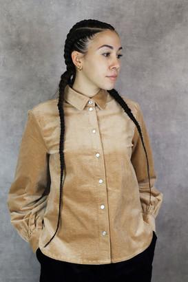 Samso Samsoe - Moonstone Dress - XS | camel | organic cotton - Camel