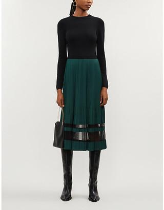 Ted Baker Scarlah contrast skirt midi dress