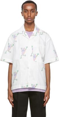 Jacquemus White Flip Flop Print La Chemise Jean Short Sleeve Shirt