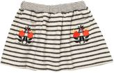 Milk On The Rocks Embroidered Cotton Skirt