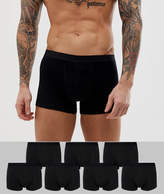 Asos Trunks In Black 7 Pack