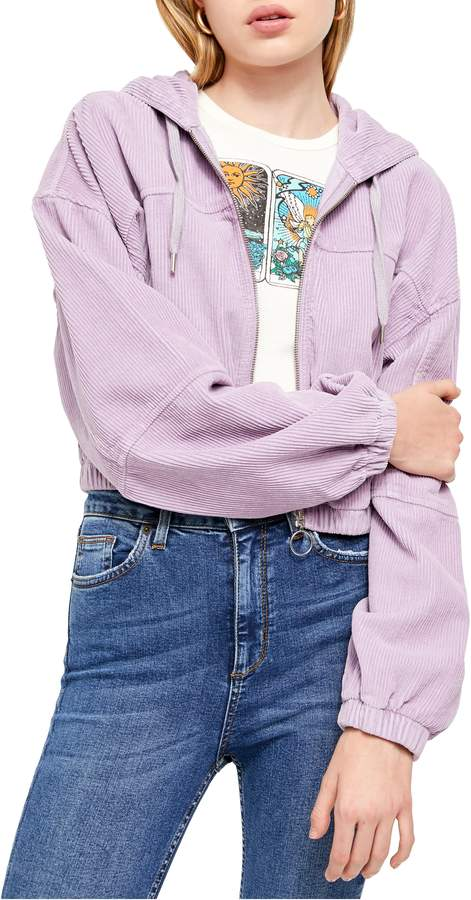 246615fa1 Urban Outfitters Corduroy Crop Hooded Jacket