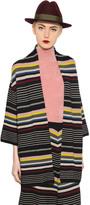 Antonio Marras Geometric Striped Wool Cardigan