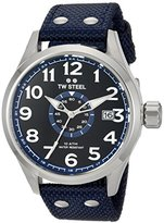 TW Steel Men's 'Volante' Quartz Stainless and Nylon Dress Watch, Color:Blue (Model: VS31)