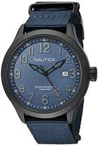 Nautica Men's NAD14519G NCC 01 Date Analog Display Quartz Blue Watch