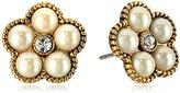 Marc Jacobs Flower Pearl Stud Earrings