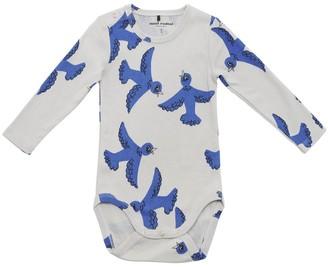 Mini Rodini Bird Print Cotton Bodysuit