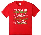 Women's I'm Full Of Holiday Spirit It's Called Vodka Christmas Tee Large