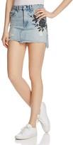 Rag & Bone Dive Denim Skirt in Ramona Embroidery