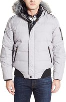 Point Zero Water Resistant Hooded Down Parka with Faux Fur Trim