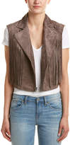 BCBGMAXAZRIA Mike Fringed Suede-Look Vest