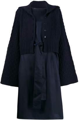 Zucca knit overlay dress