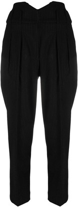 IRO Pepinea cropped tapered-leg trousers