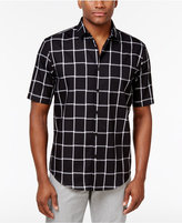 Alfani Men's Two-Tone Windowpane Shirt, Created for Macy's