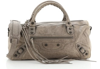 Balenciaga Twiggy Classic Studs Bag Leather Maxi