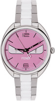 Fendi Silver and Pink Momento Bugs Watch